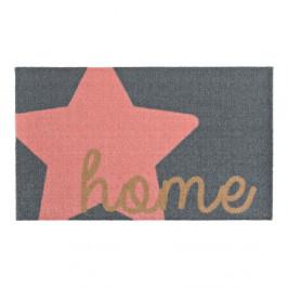 Sivo-ružová rohožka Zala Living Design Star Home Grey Pink, 50×70cm