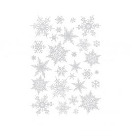 Sada 30 vianočných samolepiek Fanastick Christmas Silver Flakes