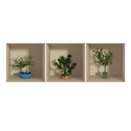 Sada 3 samolepiek s 3D efektom Fanastick Small Trees