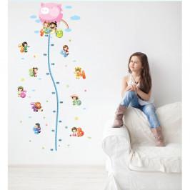 Samolepka s detským metrom Ambiance Balloon with Little Kids