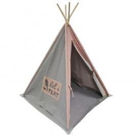 Sivo-ružové teepee OVERSEAS Tipi Kids