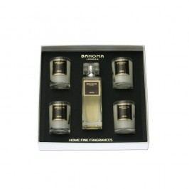 Sada 4 vonných sviečok a izbového spreja Bahoma Cristal