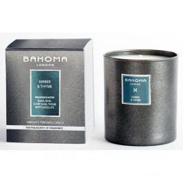 Vonná sviečka s vôňou ambry a jantáru Bahoma, 75 hodín horenia