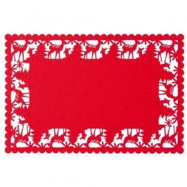 Červené prestieranie Clayre & Eef Christmasy, 45 x 30 cm