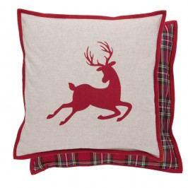 Obliečka na vankúš Clayre & Eef Deer Christmas, 40 x 40 cm