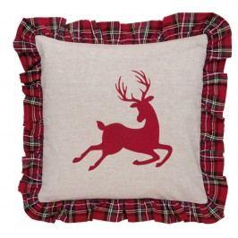 Obliečka na vankúš Clayre & Eef Deer ChristmasII, 40 x 40 cm