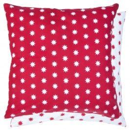 Červená obliečka na vankúš Clayre & Eef Holy Happy Time, 50 x 50 cm