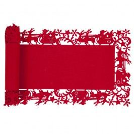 Červený behúň Clayre & Eef Holy SpiritII, 30 x 120 cm