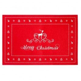 Červené prestieranie Clayre & Eef Holy Merry Time, 45 x 30 cm