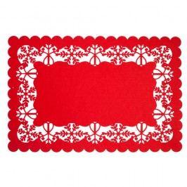 Červené prestieranie Clayre & Eef Holy Merry TimeII, 45 x 30 cm