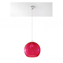 Červené stropné svetlo Nice Lamps Bilbao