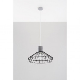 Sivo-čierne  stropné svetlo Nice Lamps Prato