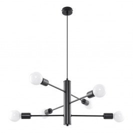 Čierne stropné svietidlo Nice Lamps Donato 6