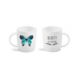 Hrnček Vialli Design Butterfly sobojstrannou potlačou, 370 ml