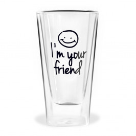 Dvojstenný pohár Vialli Design Im Your Friend, 300 ml