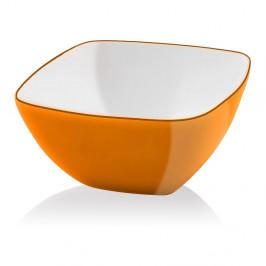 Oranžová šalátová misa Vialli Design, 14 cm