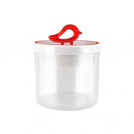 Červená dóza Vialli Design Livio, 400 ml