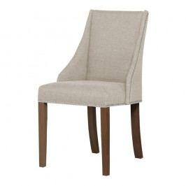 Krémová stolička s tmavohnedými nohami Ted Lapidus Maison Patchouli
