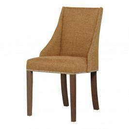 Žltá stolička s tmavohnedými nohami Ted Lapidus Maison Patchouli