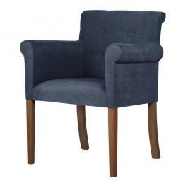 Modrá stolička s tmavohnedými nohami Ted Lapidus Maison Flacon