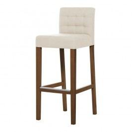 Krémová barová stolička s tmavohnedými nohami Ted Lapidus Maison Jasmin