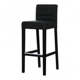 Čierna barová stolička s čiernymi nohami Ted Lapidus Maison Jasmin