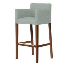 Mentolovozelená barová stolička s tmavohnedými nohami Ted Lapidus Maison Sillage