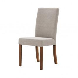 Sivohnedá stolička s tmavohnedými nohami Ted Lapidus Maison Tonka