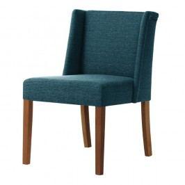 Tyrkysová stolička s tmavohnedými nohami Ted Lapidus Maison Zeste