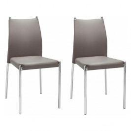 Sada 2 hnedých stoličiek Støraa Zulu