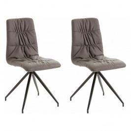 Sada 2 hnedých stoličiek Støraa Gino
