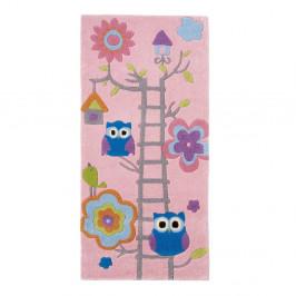 Ružový detský ručne tuftovaný koberec Think Rugs Hong Kong Kiddo Pinkie, 70×140 cm