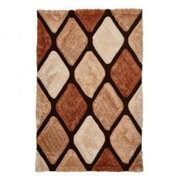 Hnedý károvaný koberec Think Rugs Noble House, 150x230cm