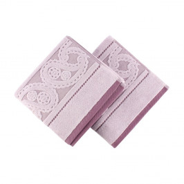 Sada 2 fialových uterákov Hurry, 50 x 90 cm