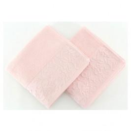 Sada 2 svetloružových uterákov zo 100% bavlny Burumcuk, 50 x 90 cm