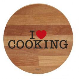 Doska na krájanie z bukového dreva Bisetti I Love Cooking, 30cm