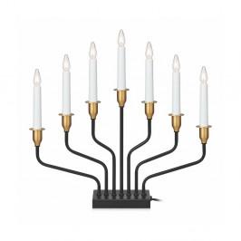 Čierny svietiaci LED svietnik Markslöjd Brosa