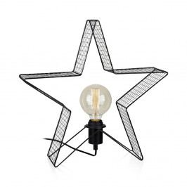 Svietiaca LED dekorácia Markslöjd Holber Star Black