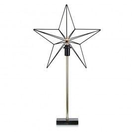 Svietiaca LED dekorácia Markslöjd Tjusa Star Black