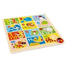 Drevené puzzle so zvieratkami Legler Zoo Animals