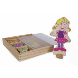 Drevená magnetická obliekacia bábika Legler Ramona
