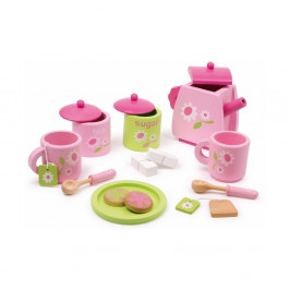Drevený čajový servis na hranie Legler Pink
