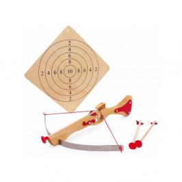 Drevená kuša na hranie s terčom Legler Crossbow