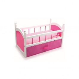 Drevená postieľka pre bábiky Legler Pink