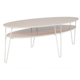 Konferenčný stolík s bielymi nohami RGE Leon, šírka 150 cm