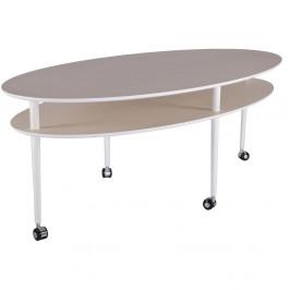 Konferenčný stolík na kolieskach RGE Casper, 140x70cm