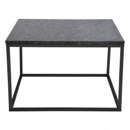Čierny žulový konferenčný stolík s čiernou podnožou RGE Accent, šírka 75 cm