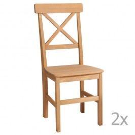 Sada 2 jedálnych stoličiek z masívneho dreva 13Casa Helga