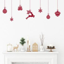 Sada 8 vianočných samolepiek Ambiance Scandinavian Christmas