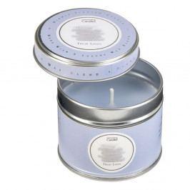 Aromatická sviečka v plechovke s vôňou čerstvo vypratej bielizne Copenhagen Candles, doba horenia 32 hodín